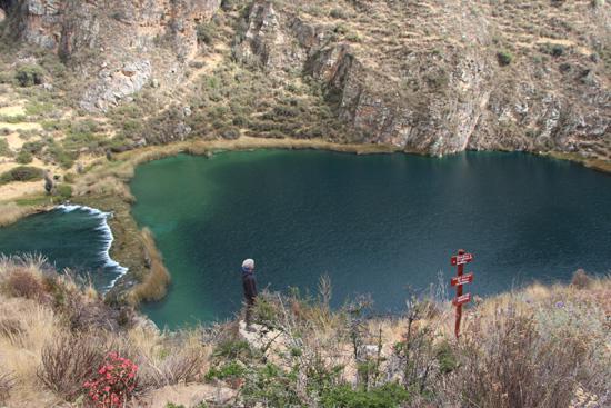 A tourist at the Nor Yauyos-Cochas Landscape Reserve. Photo credit: Annie Escobedo