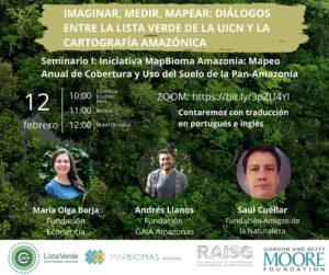 Banner image for webinar Serie de webinars Cartografía en Amazonía